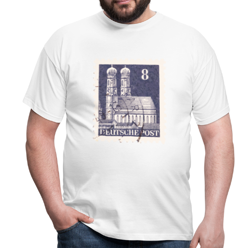 München Briefmarken T-Shirt 8er Blau - Männer T-Shirt