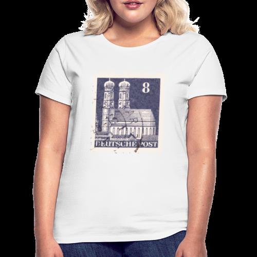 München Briefmarken T-Shirt 8er Blau - Frauen T-Shirt