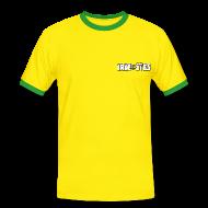 Tee shirts ~ Tee shirt contraste Homme ~ T SHIRT IRIE ITES VERT ET JAUNE