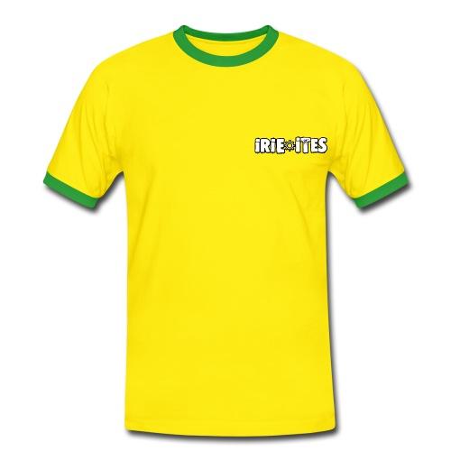T SHIRT IRIE ITES VERT ET JAUNE - T-shirt contrasté Homme