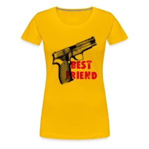 Best Friend t-shirt yellow - Women's Premium T-Shirt