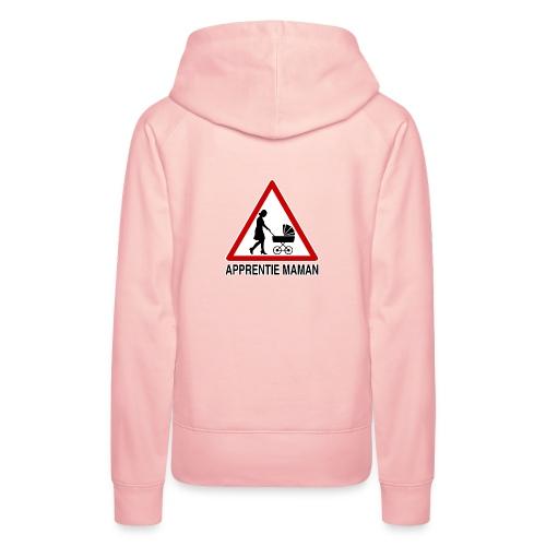 Maman novice - Sweat-shirt à capuche Premium pour femmes