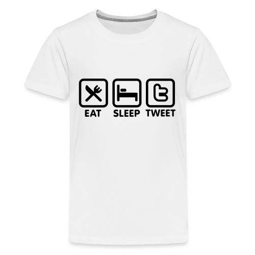 Tu mange,tu dors,tu tweet - T-shirt Premium Ado