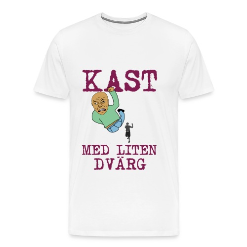 Kast med liten dvärg - Premium-T-shirt herr