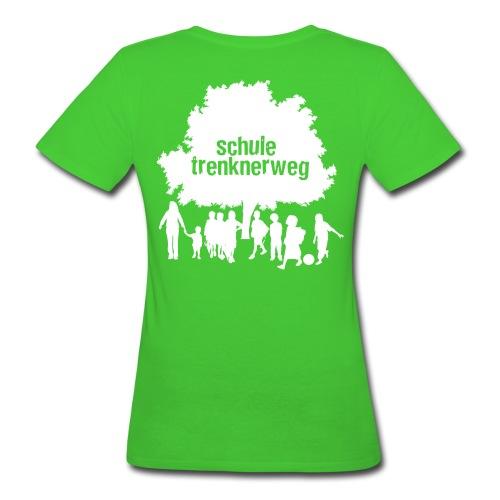 Grundschule Trenknerweg Logo - Schwarz - Rückseite - Frauen Bio-T-Shirt