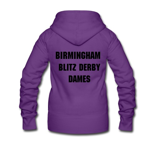 Blitz Dames Text Hooded Jacket - Women's Premium Hooded Jacket