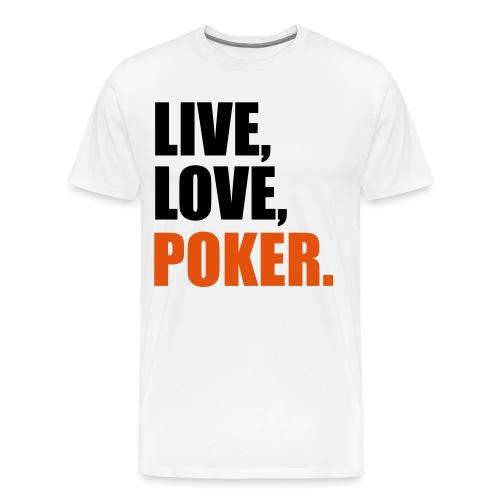 T-shirt Homme Live, Love, Poker - T-shirt Premium Homme