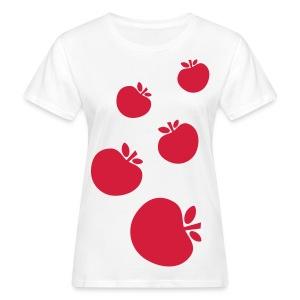 wie viele Apfel haben Sie gefunden? - T-shirt ecologica da donna