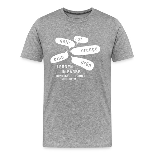 Männer T-Shirt klassisch »Lernen in Farbe« - Männer Premium T-Shirt
