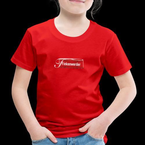 (Hamburg-) Finkenwerder vintage Ortsschild mit Schmuckbuchstabe - Kinder Premium T-Shirt