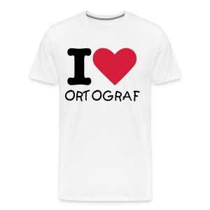 T-Shirt I love Ortograf - Homme - T-shirt Premium Homme