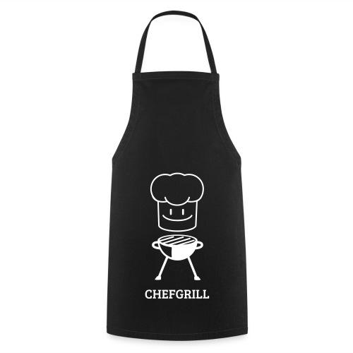 Grillschürze (weißes Maskottchen) - Kochschürze