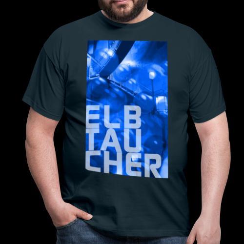 Elbtaucher Hamburg: Alter Elbtunnel mit Luftblasen - Männer T-Shirt