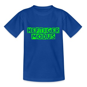 HEFTIGER MODUS-Shirt Kidz green, BC-Logo back white - Kinder T-Shirt