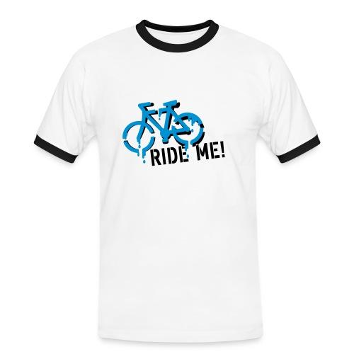 Ze-Velo Ride Me homme MC blanc/noir - T-shirt contrasté Homme