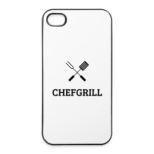 iPhone 4/4S Hülle (schwarzes Logo) - iPhone 4/4s Hard Case