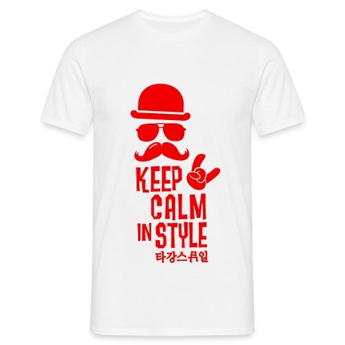 keep calm in style - Männer T-Shirt
