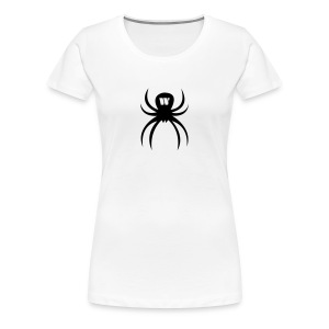 Black Spider, Women's T-Shirt, white, F/B - Women's Premium T-Shirt