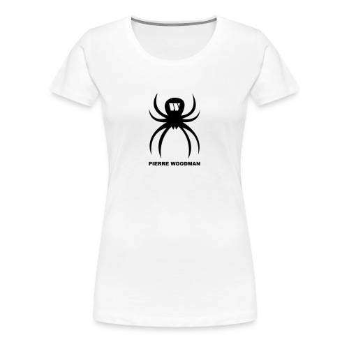 Black PW-Spider, Women's T-Shirt, white, F/B - Women's Premium T-Shirt