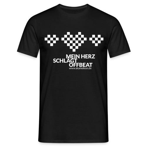 Mein Herz schlägt Offbeat - Männer T-Shirt