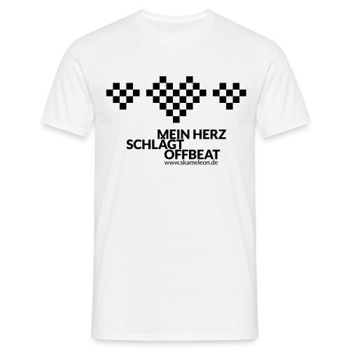 Mein Herz schlägt Offbeat Weiss - Männer T-Shirt