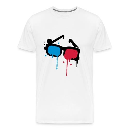 Lunettes 3D - T-shirt Premium Homme