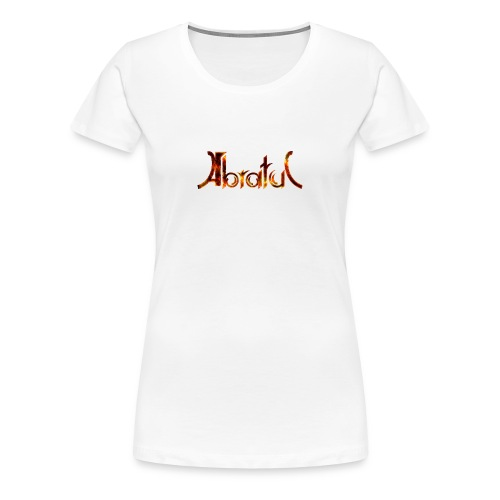 Girls Shirt Weiß Flammen - Frauen Premium T-Shirt