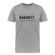 T-Shirts ~ Männer Premium T-Shirt ~ Shirt Kabarett-Founded-1901-Style1 farbig