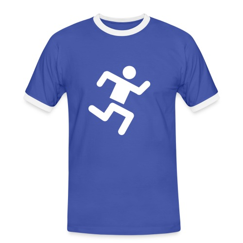 run! - Koszulka męska z kontrastowymi wstawkami