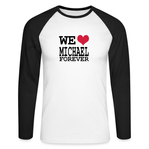 we love michael - T-shirt baseball manches longues Homme