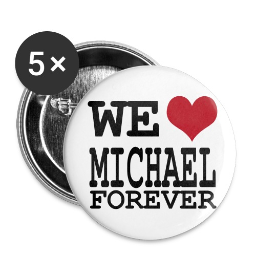 we love michael - Badge grand 56 mm