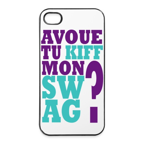 Coque iPhone 4 : Pardon my Swag - Coque rigide iPhone 4/4s