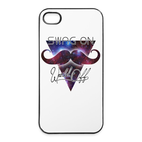 Coque iPhone 4 : SWAG ON WORLD OFF - Coque rigide iPhone 4/4s