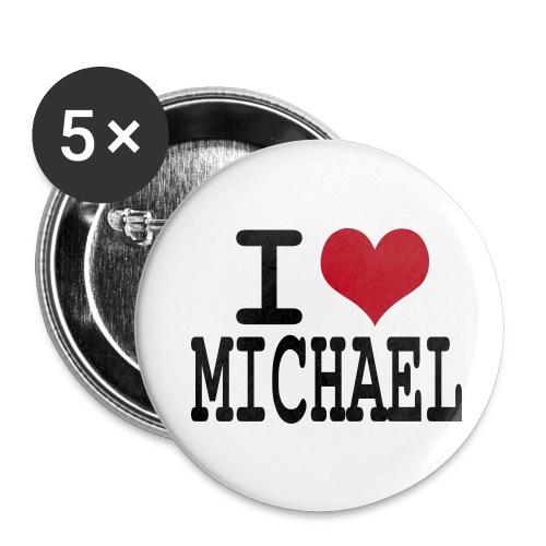 I love michael - Badge moyen 32 mm