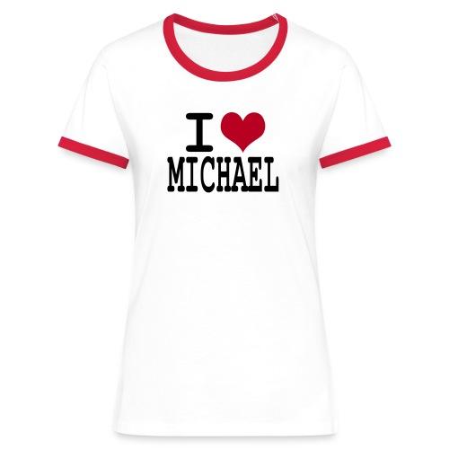 I love michael - T-shirt contrasté Femme