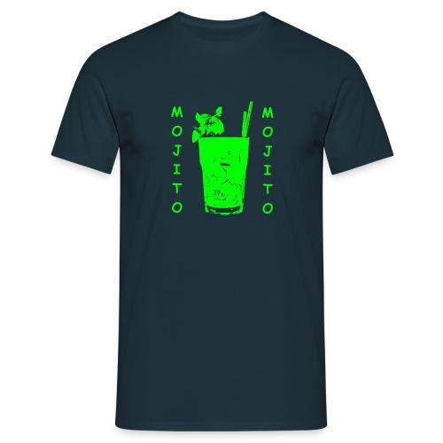 t shirt uomo con logo Mojito bicchiere verde  - Maglietta da uomo