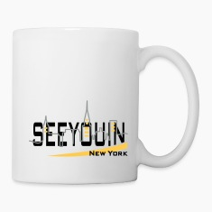 see you in - newyork Bottles & Mugs