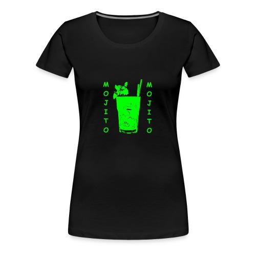 t shirt donna con logo Mojito bicchiere verde  - Maglietta Premium da donna