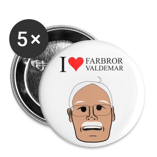 I love Fabror Valdemar - Stora knappar 56 mm (5-pack)