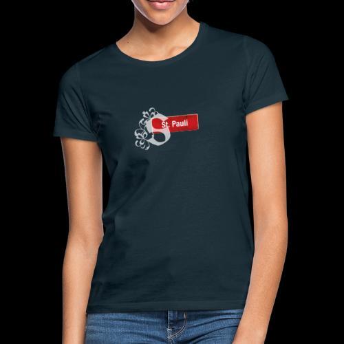HH-St.Pauli-Schild mit Schmuck-Initial - Frauen T-Shirt