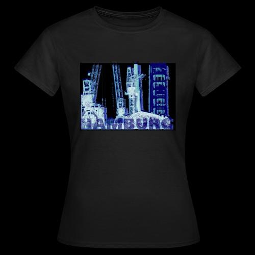 Damen T-Shirt: Hamburger Hafenmotiv | Kräne | Hubbrücke - Frauen T-Shirt