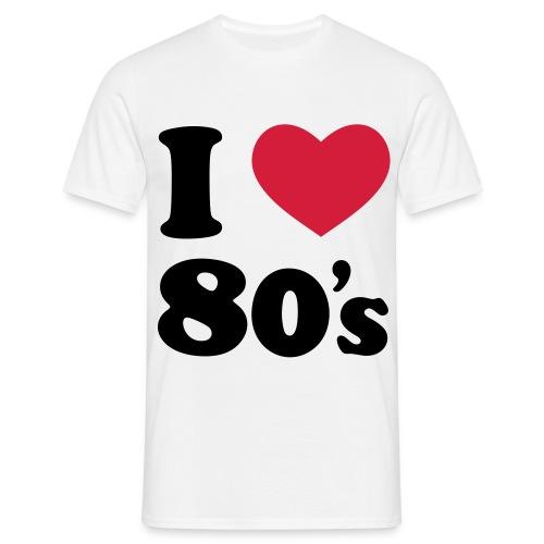 I love 80's - Maglietta da uomo