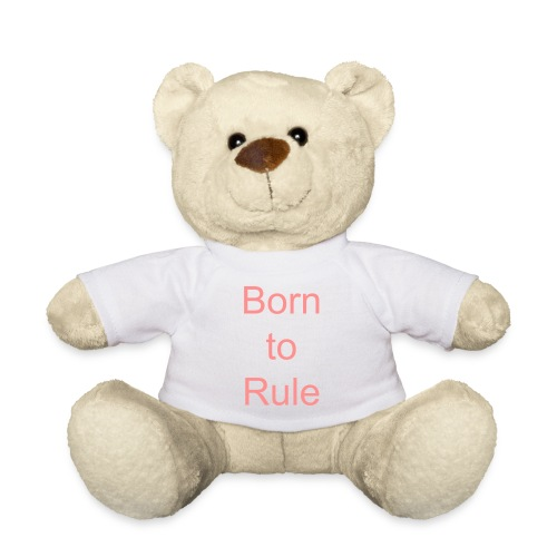 OURS BLANC ROSE  BORN TO RULE - Nounours