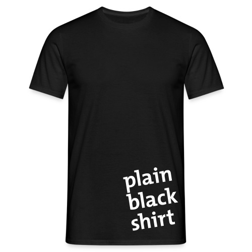 Plain Black Shirt - Camiseta hombre