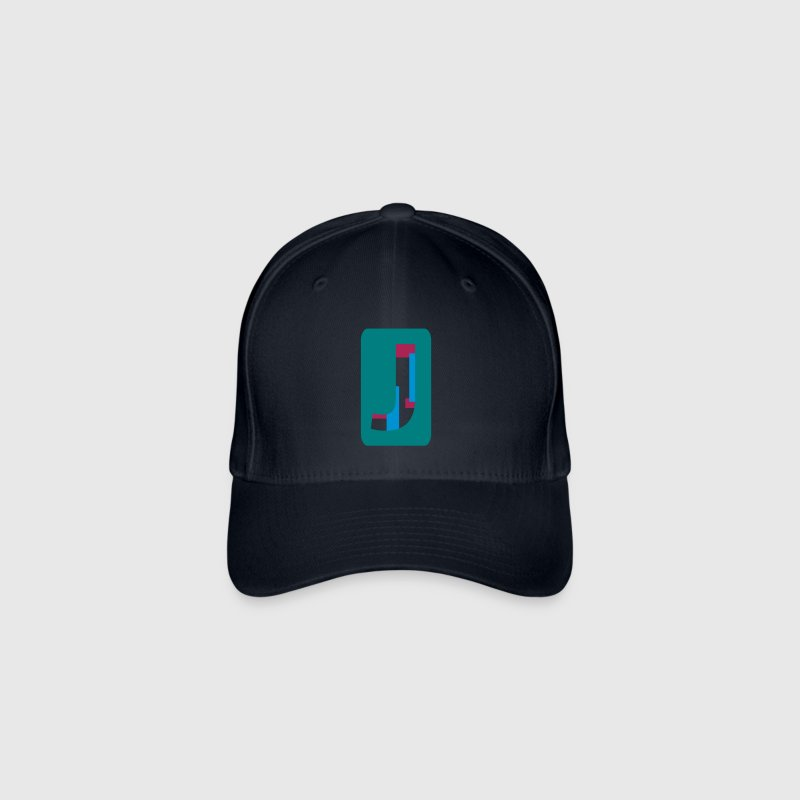 Letter J Caps & Hats - Flexfit Baseball Cap