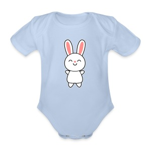 Cute Rabbit / Bunny Paidat - Baby Bio-Kurzarm-Body