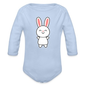 Cute Rabbit / Bunny Puserot - Baby Bio-Langarm-Body