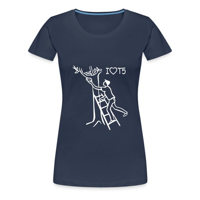 "Shirt ""I love T5"" Women"