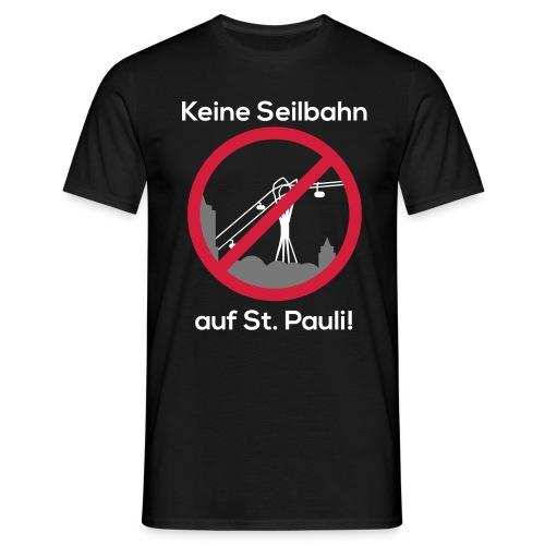 Keine Seilbahn - Männer T-Shirt schwarz - Männer T-Shirt