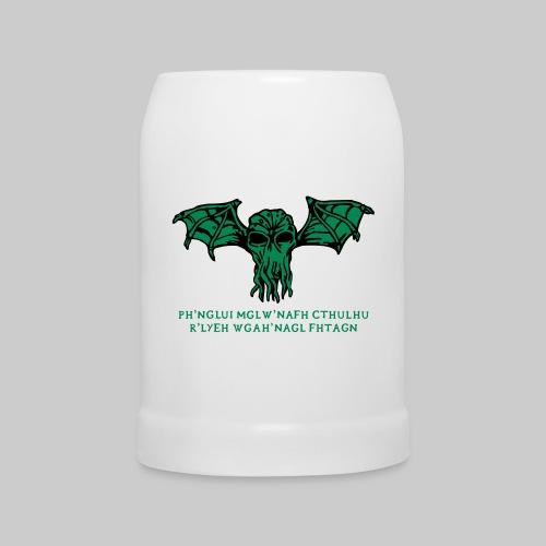 Bierkrug - Ph'nglui mglw'nafh Cthulhu R'lyeh wgah'nagl fhtagn - Beer Mug